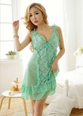 Green Babydoll Set