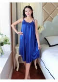 Satin Babydoll Big Size L-XL( Dark Blue)
