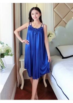 Satin Babydoll Big Size L-XL( Dark Blue)