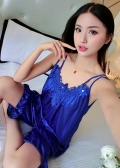 Satin Babydoll & Pants (Blue, Bean Sand, Light Purple, Purple)