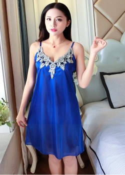 Satin Babydoll  (Royal Blue, Bean Sand, Maroon, Black)