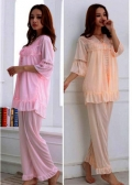 Robe Set with Babydoll & Trousers Fit to L Good Quality