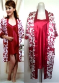 Satin Robe with Inner