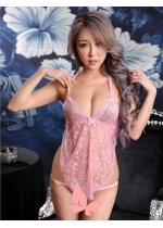 Babydoll with Open Crotch G-String