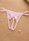 Open Crotch Pearl G-String