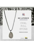 KK Liforce Oval Full Stone Made in USA Kalung Kesehatan Anti Radiasi & Penambah Stamina Tubuh
