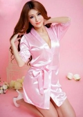 Satin Robe with G-String