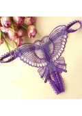 Purple Butterfly G string Open crotch